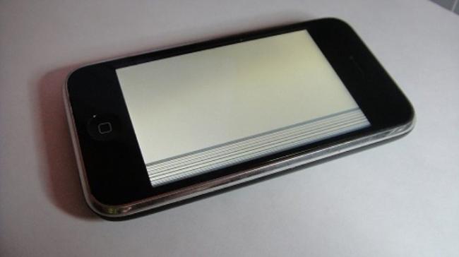 Белый экран айфон 4 что делать и не выключается