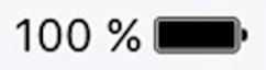 Пример заряда аккумулятора в процентах